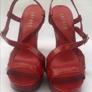 Red HOT Ralph Lauren Sandals